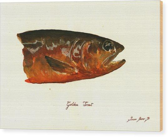 Golden Trout  Wood Print