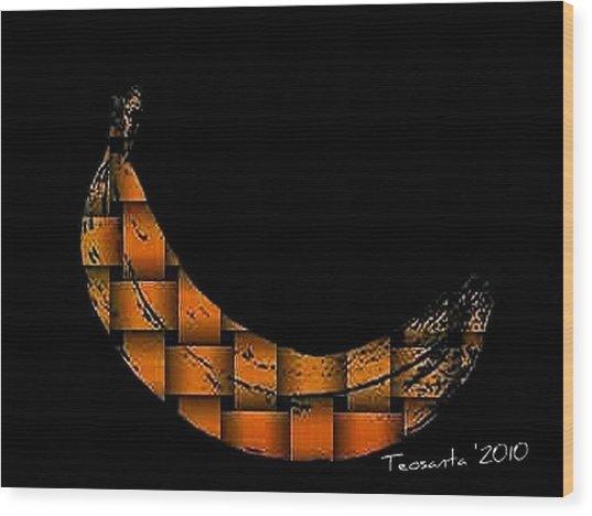 Golden Weave Banana Wood Print by Teodoro De La Santa