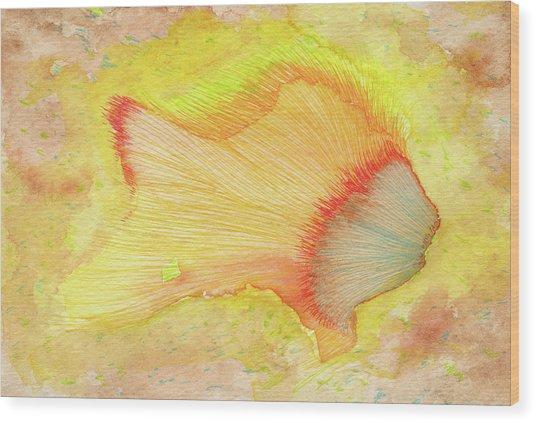 Goldfish - #ss16dw039 Wood Print by Satomi Sugimoto