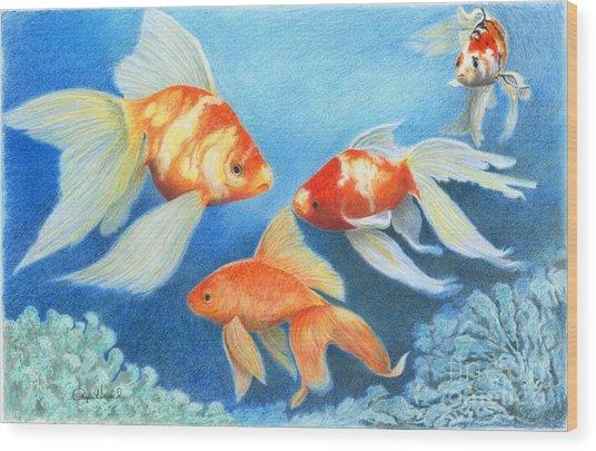 Goldfish Tank Wood Print