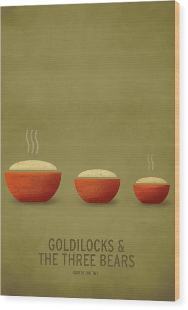 Goldilocks And The Three Bears Wood Print