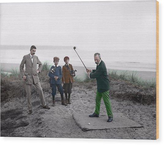 Golf 1907 Dream Wood Print