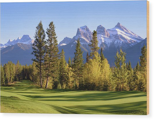 Silvertip Golf Course Wood Print
