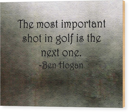 Golf Quote Wood Print