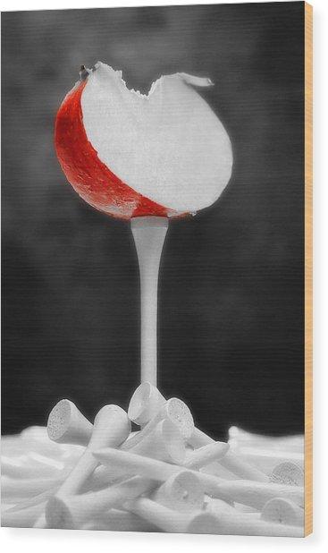 Golf Slice Still Life Wood Print by Tom Mc Nemar