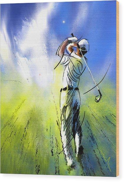 Golfscape 01 Wood Print