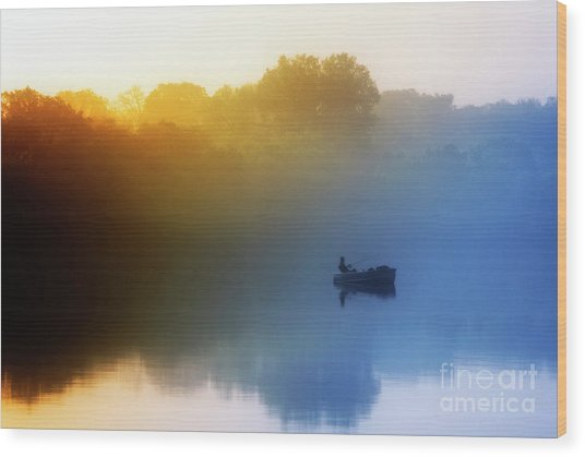 Wood Print featuring the photograph Gone Fishing by Scott Kemper