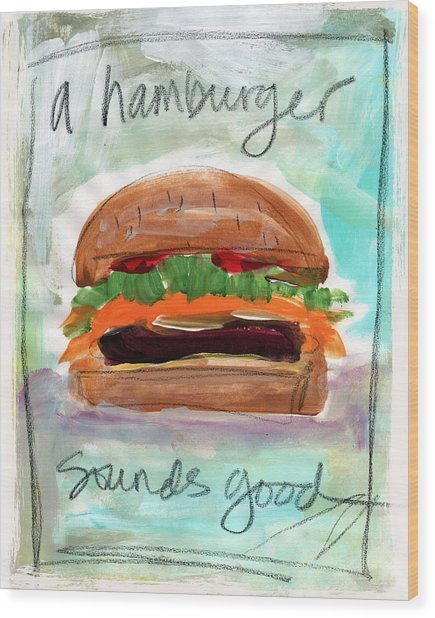 Good Burger Wood Print