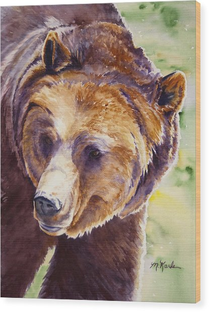 Good Day Sunshine - Grizzly Bear Wood Print