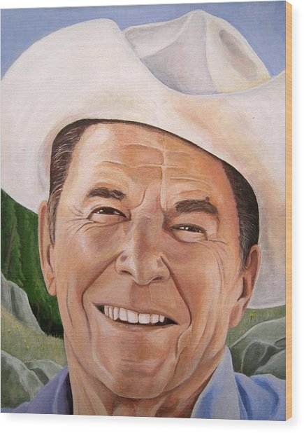 Good Guys Wear White Hats Wood Print by Kenneth Kelsoe