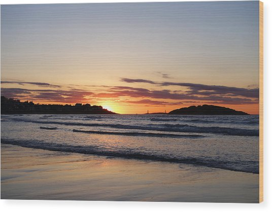Good Harbor Beach At Sunrise Gloucester Ma Wood Print
