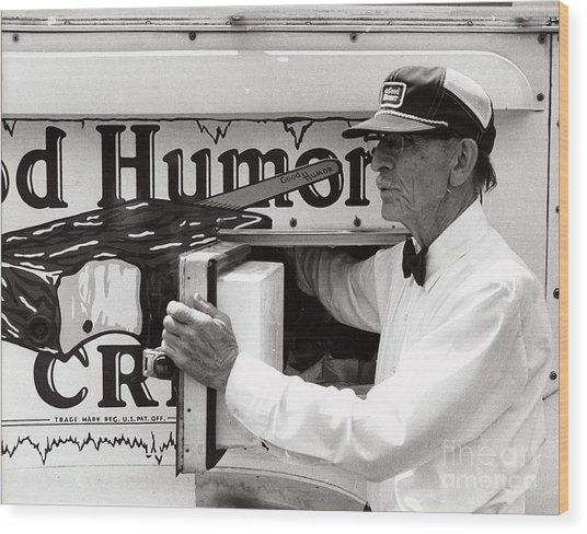 Good Humor Man Wood Print by Diane E Berry