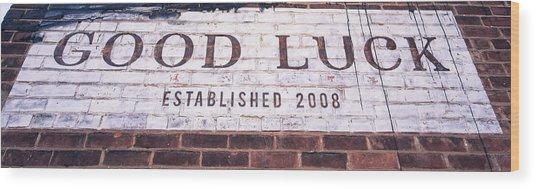 Good Luck Restaurant Wood Print