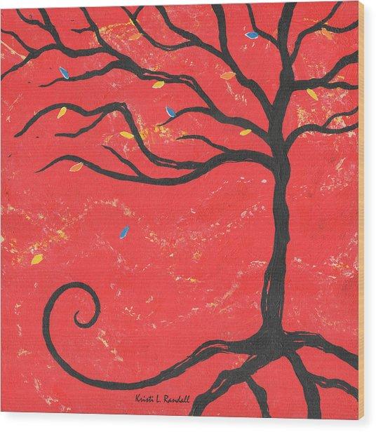 Good Luck Tree - Right Wood Print by Kristi L Randall