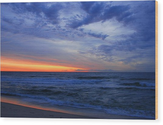 Good Morning - Jersey Shore Wood Print