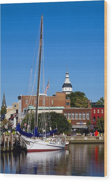 Good Morning Annapolis Wood Print