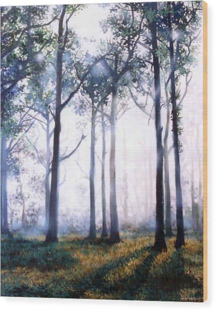 Good Morning Wood Print