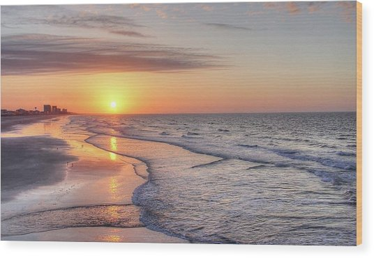 Good Morning Grand Strand Wood Print