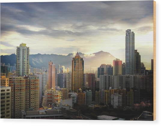 Good Morning, Hong Kong Wood Print
