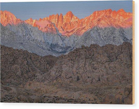 Good Morning Mount Whitney Wood Print