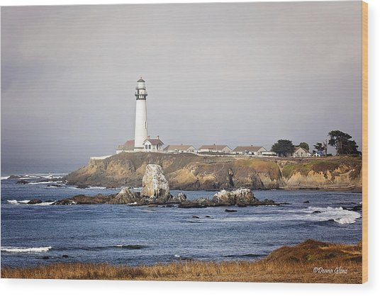 Good Morning Pigeon Point Wood Print