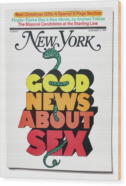 Good News About Sex Wood Print