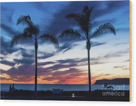 Good Night Coronado Wood Print