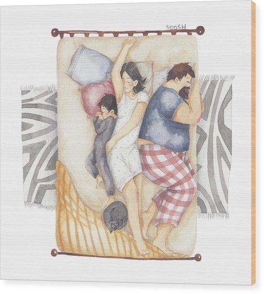 Good Night Sleep Tight Wood Print