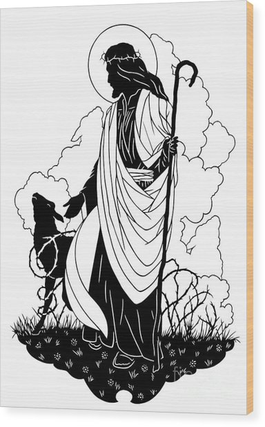 Good Shepherd - Dpgsh Wood Print