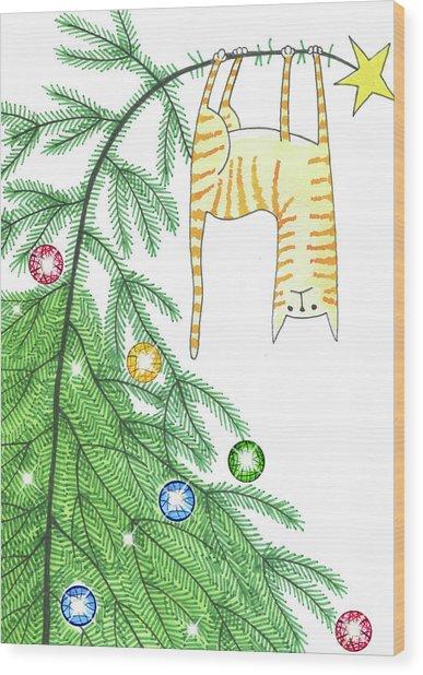 Goodbye, Christmas Tree  Wood Print