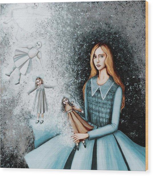 Goodbye  To Dolls Wood Print