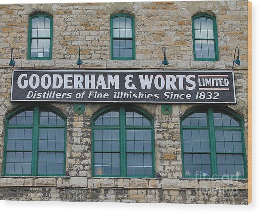 Gooderham And Worts Distillery Wood Print