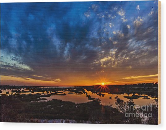 Goodnight Topsail Wood Print