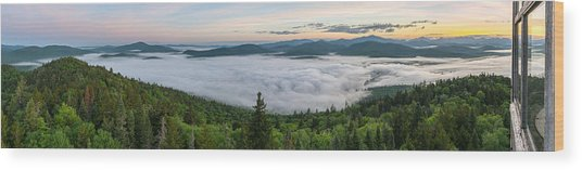Goodnow Mountain Panorama Wood Print