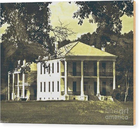 Goodwood Plantation Baton Rouge Circa 1852 Wood Print