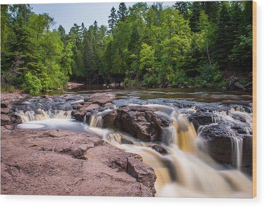 Goose Berry River Rapids Wood Print