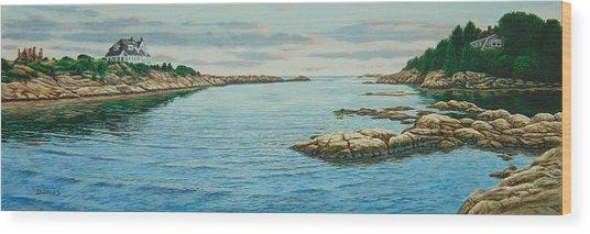 Goose Neck Cove Wood Print by Bruce Dumas