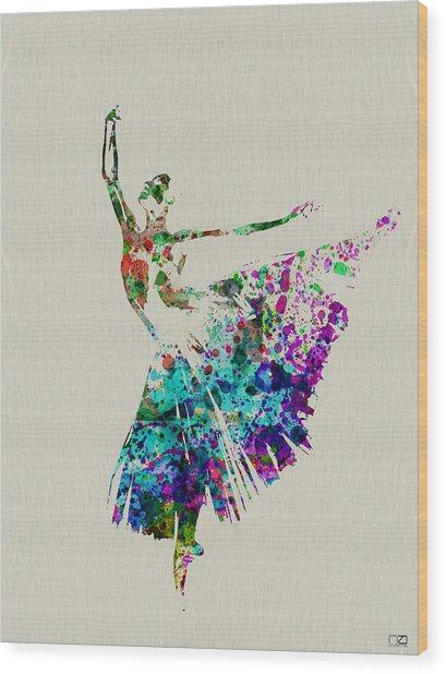 Gorgeous Ballerina Wood Print