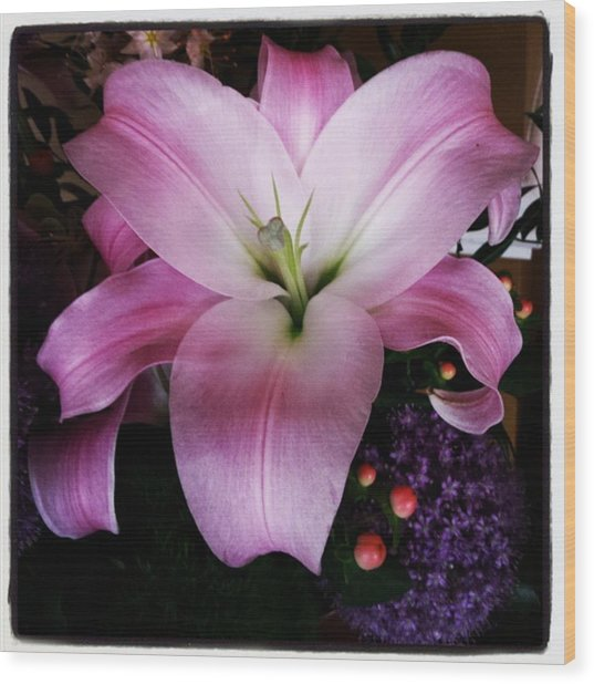Wood Print featuring the photograph Gorgeous Flowers. Real. I Think They by Mr Photojimsf