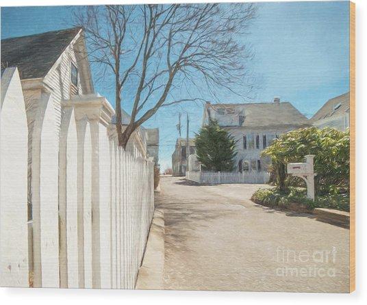 Gosnold St. Provincetown Wood Print