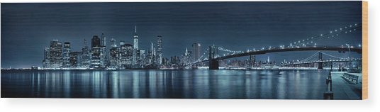 Gotham City Skyline Wood Print