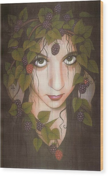 Gothberry Wood Print by Yuri Leitch