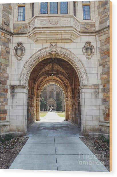 Gothic Archway Photography Wood Print