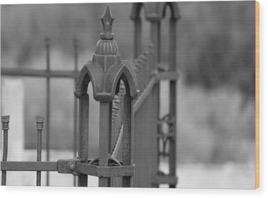 Gothic Ornamental Fence In Boothill Wood Print
