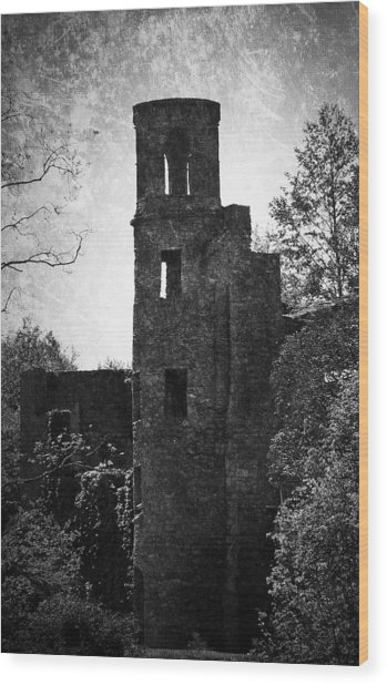 Gothic Tower At Blarney Castle Ireland Wood Print