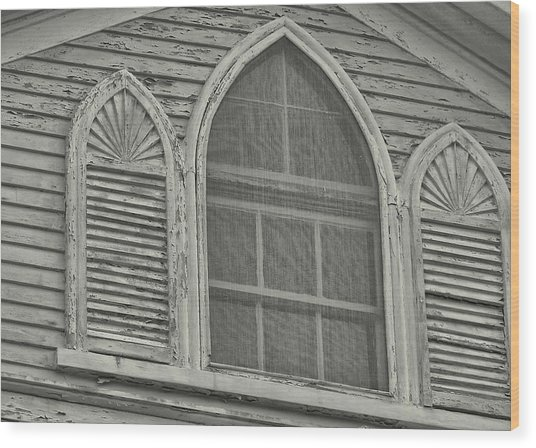 Nantucket Gothic Window  Wood Print by JAMART Photography