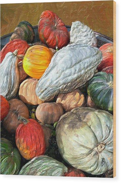 Gourd-jes Wood Print