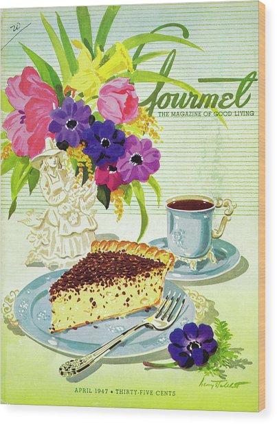 Gourmet Cover Of Cream Pie Wood Print