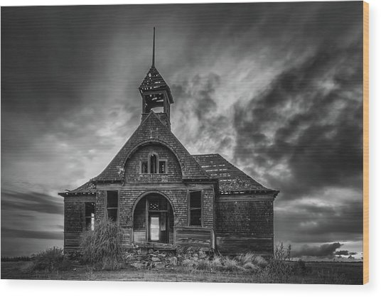 Goven School House Wood Print
