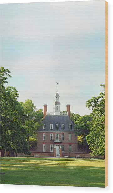 Governor Palace - Williamsburg Wood Print by Panos Trivoulides